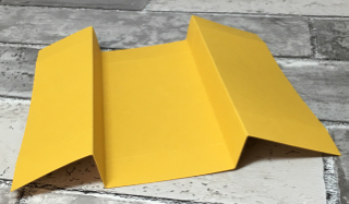 Freestanding Business Card Holder - scoring