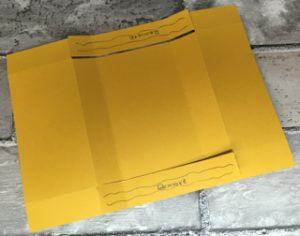 Freestanding Business Card Holder - cutting away