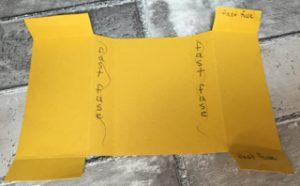 Freestanding Business Card Holder - Applying Adhesive