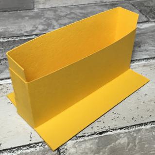 Freestanding Business Card Holder - shaped box