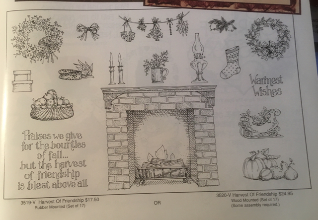 Harvest of Friendship, Wood - $24.95; Rubber Mount - $17.95; STAMPIN' UP!