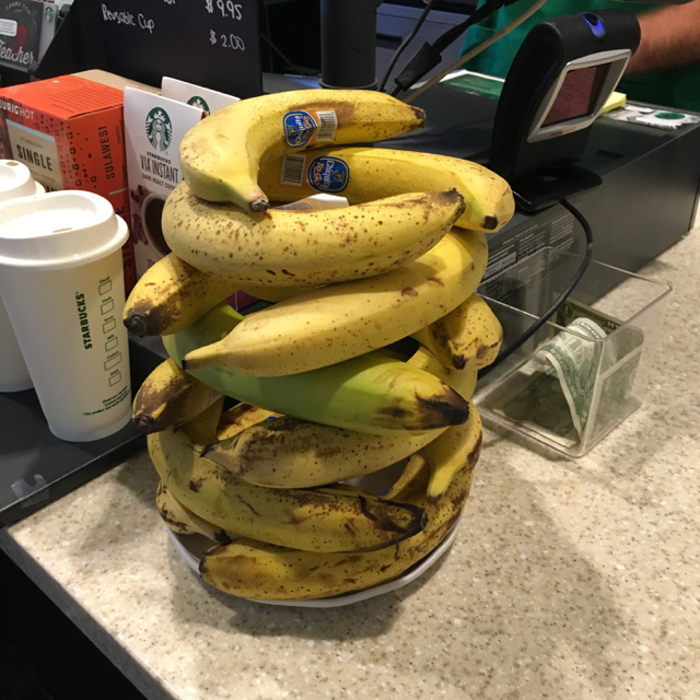 Starbuck's stack o' bananas