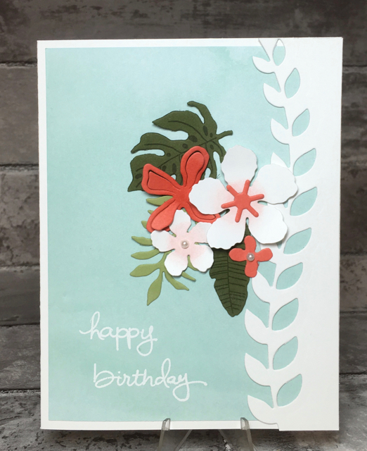 Pool Party Botanical Blooms card