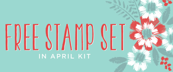 FREE stamp set with April 2016 Paper Pumpkin