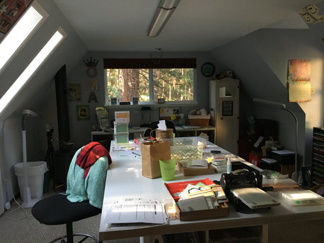 My Country Loft stampin' studio--work in progress