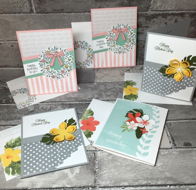 May birthday and Mother's Day cards