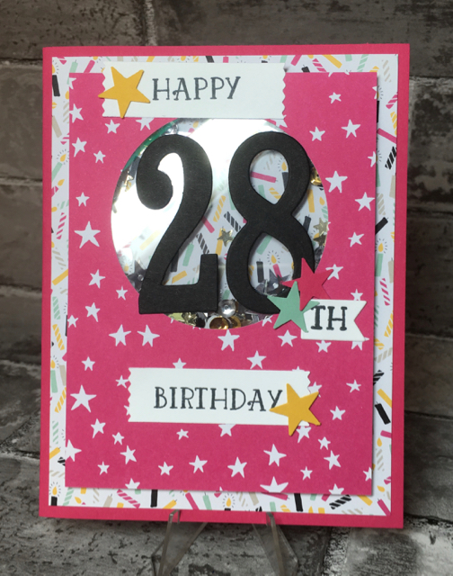 Shaker birthday card