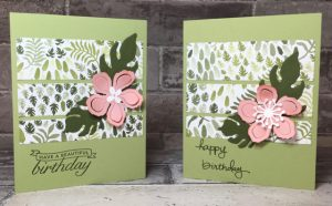 Botanical Gardens cards made at the Mi Wuk Library on May 19th