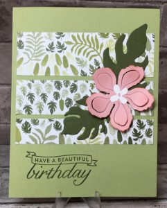 Happy Birthday Botanical Blossom card
