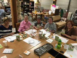Lovely ladies stampin' at the Mi Wuk Village Library