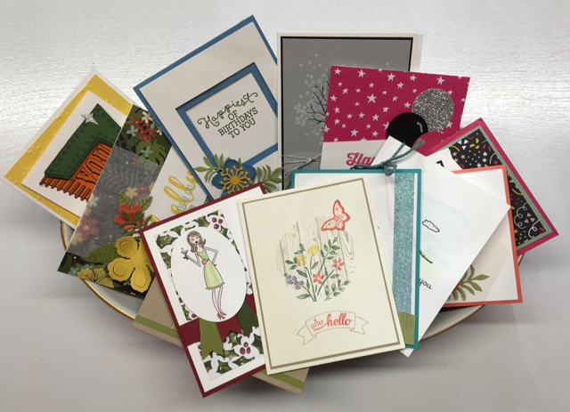 Blythe's Buffet plate of cards
