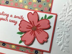 Flower embellishment layer, close up