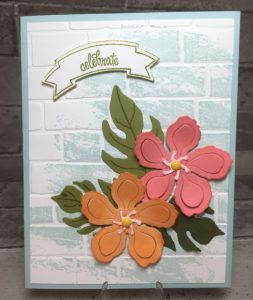 Tropical Blooms anniversay card
