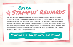 More stampin' rewards--schedule a party today!