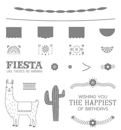 Birthday Fiesta Photopolyer Stamp Set, 141500