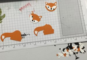Bits and pieces for fox bookmark