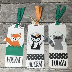 3 Foxy Friends bookmarks