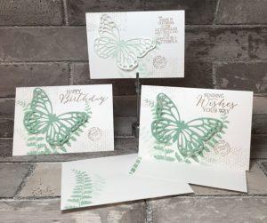 Butterfly Basic photopolymer stamp set, 137154, $24
