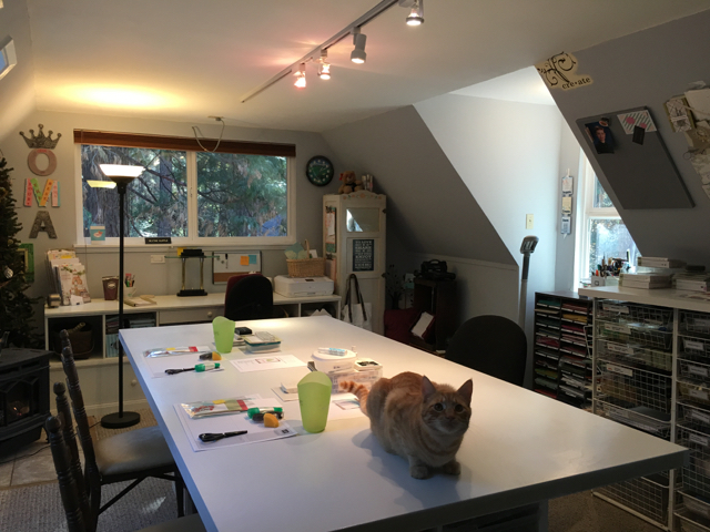 Ready to go, clean and refreshed stampin' studio