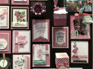 Inspiration board at OnStage in April show casing the new Sweet Sugarplum 2016-2018 In Color