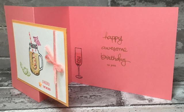 Christy's birthday card, inside, 141928