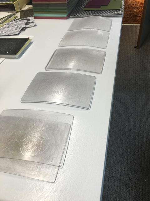 Warped standard cutting pads