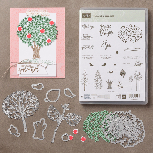 Awesome Thoughtful Branches Stamp Set + Thinlits Dies