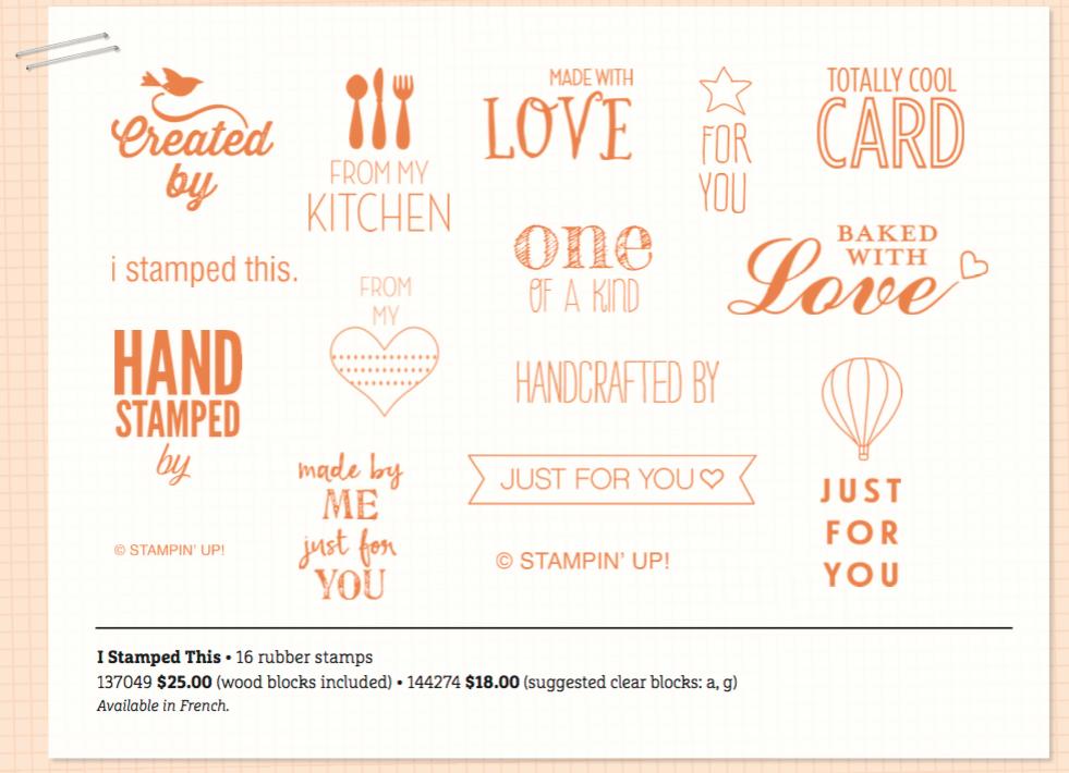 I Stamped This stamp set, 137049