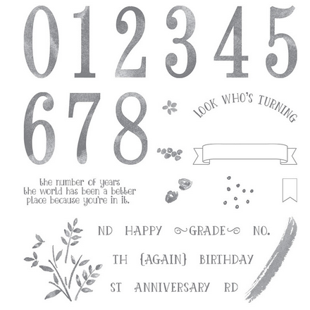Number of Years stamp set, 140653