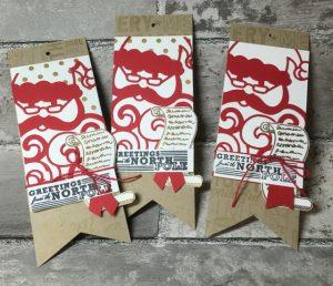 Detailed Santa Thinlits gift tags