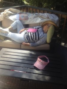 Crashed out Blythe on the front deck