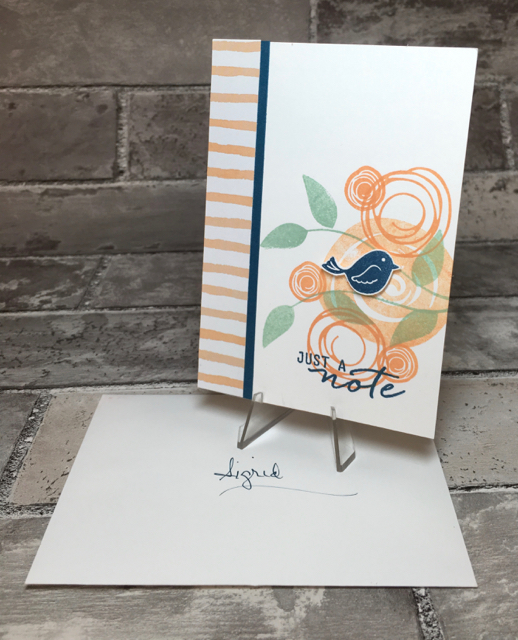 Sigrid's 'Just a Note' card