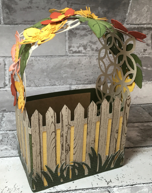 Lattice covered card basket