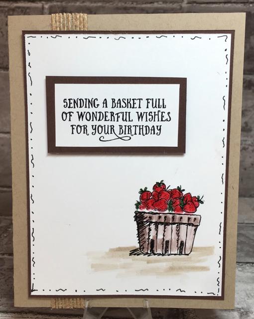 Darci's Basket of Strawberries Card (142200)