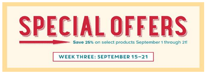 September 15-21 Special Offers