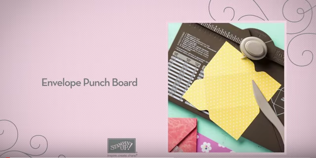 Stampin' Up!'s You Tube Punch Board Video