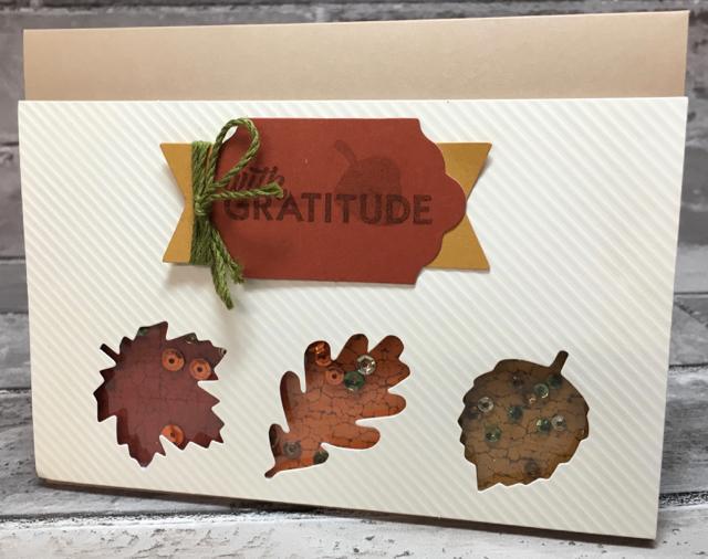 Card 1 - horizontal Gratitude Card