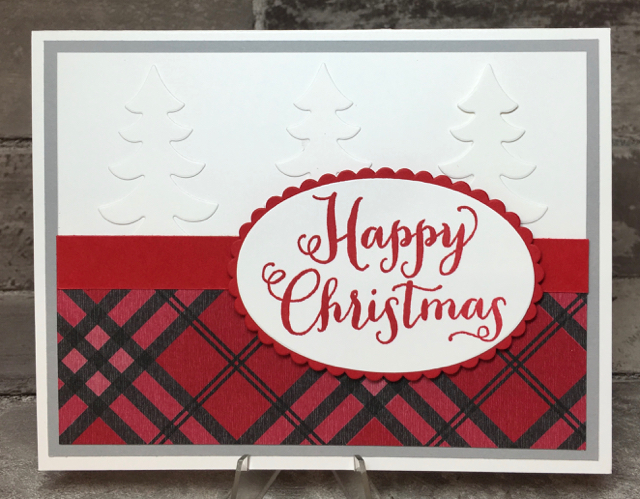 Card 2: Plaid Christmas
