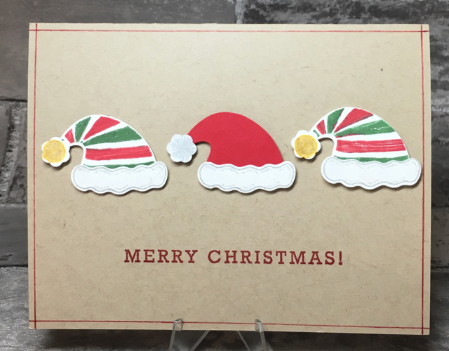 Card 7: Merry Christmas Hats