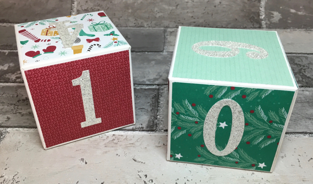 White gift Boxes (142000) + Presents & Pinecones Designer Series Paper (141986))