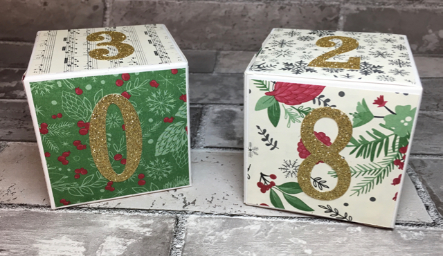 SU! White Gift Boxes + This Christmas Depcialty Designer Series Paper