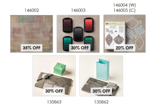 Save 20% or 30% on these select products.