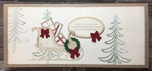 Santa's Sleigh gift certificate card, 142057