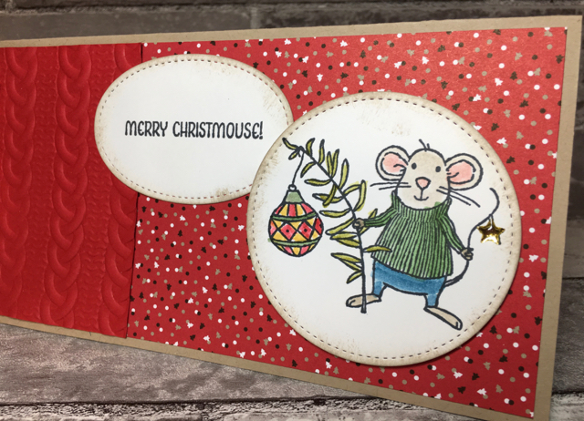"Merry Mice 9"" x 4"" card"