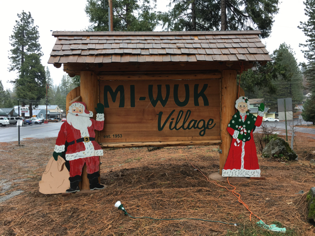 Mi Wuk Village Welcome Sign