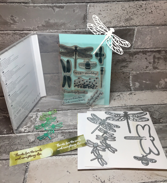 Dragonfly Dreams stamp set and Detailed Dragonfly Thinlits and Detailed Dragonfly Thinlits