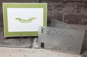 Thank you card using Floral Affection Embossing Folder