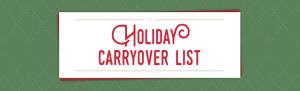 2016 HOliday Catalog Carryover List