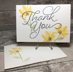Thank You card, stampin up
