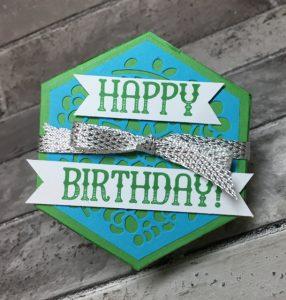 Top of hexagonal birthday box